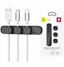 Καλώδια USB και αντάπτορες προσαρμογής Baseus Caple Clip Peas Black|armenius.com.cy