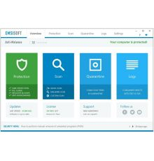 Безопасность Emsisoft Anti-Malware Home / 3 PC / 1