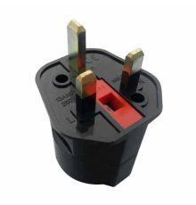 AC Adapter Euro 2 Pin to UK 3 Pin Plug, 13AMP 250V