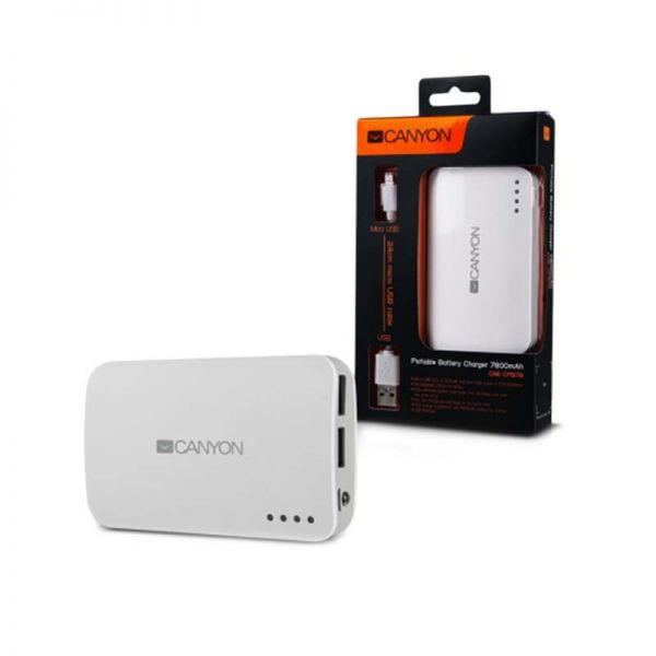 Power Banks Canyon Power Bank 7800 mAh|armenius.com.cy