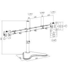 Αξεσουάρ Logilink BP0045 Dual Monitor Desk Mount / 13-32 inch / 8 Kg max|armenius.com.cy