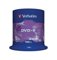 CD, DVD и BluRay Verbatim DVD+R 4.7 GB SP-100 / Matt Silver /
