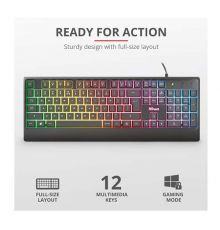 Trust Ziva Gaming Rainbow LED Keyboard GR Layout|armenius.com.cy