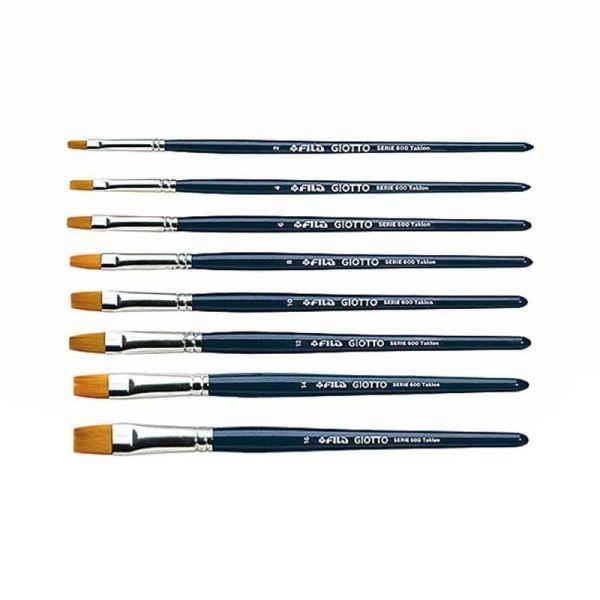 Accessories Art flat tip brushes series 600|armenius.com.cy