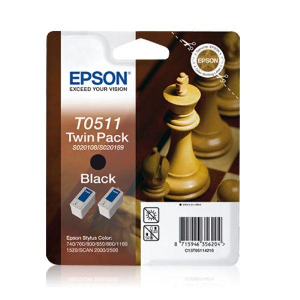 Ink cartridge Twinpack Black T0511|armenius.com.cy