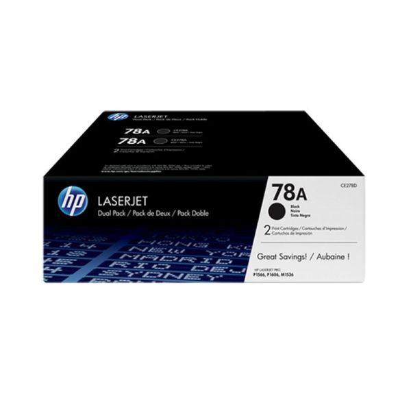 Toner HP 78A Black Dual Pack LaserJet Toner Cartridges