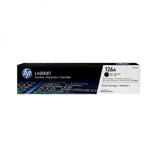 Toner HP 126A Black Dual Pack LaserJet Toner Cartridges