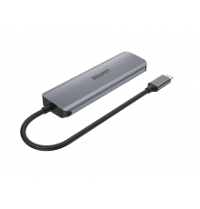 Unitek H1107D Type-C 3.1 HDMI/SD/PD100W Hub Space Grey|armenius.com.cy