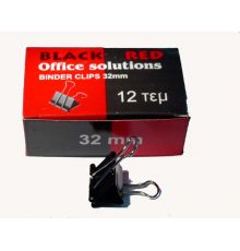 Binder Clips BLACK RED | armenius.com.cy