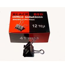 General Supplies Binder Clips BLACK RED|armenius.com.cy
