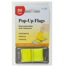 Post-it STICK N POP-UP FLAGS 45X25MM 50 SHEETS PAD