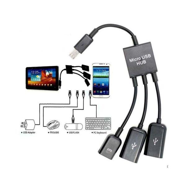 HUB / KVM / Adapters 3in1Micro USB 2.0 OTG Hub
