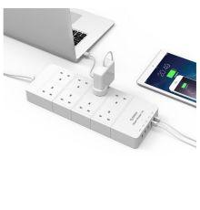 Orico Surge protector 8 AC outlets 5 USB Ports HPC-8A5U-V1-UK |