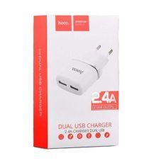 Dual USB Charger Hoco C12 | armenius.com.cy