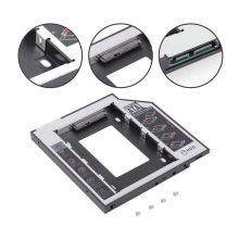 HDD Adapters, HDD Dock & Caddy 12.7 mm SSD HDD Hard Drive Caddy