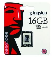 Kingston Canvas Micro SD card 16GB - 10 Class|armenius.com.cy
