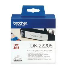 Brother DK-22205 Continuous Paper Label Roll 62mm wide |